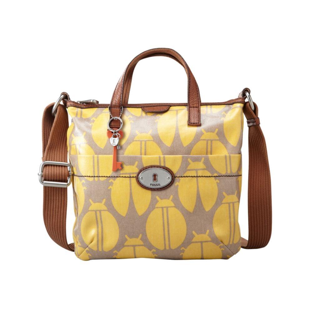 Fossil Key Per Coated Canvas Crossbody Bag Best 2018 Keyper Cross Body Calypso Birdcage Khaki With Orange Blue And Pink Accents Vine