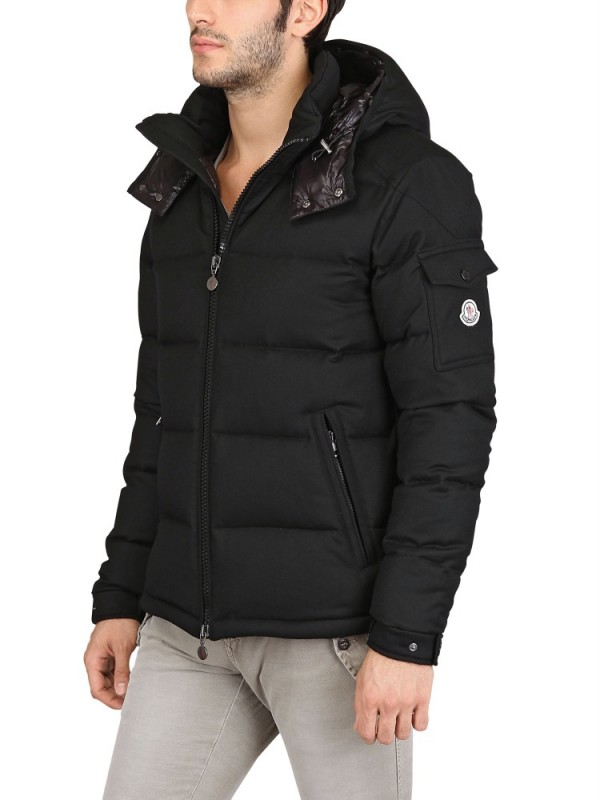 Moncler Montgenevre Wool Down Jacket In Black For Men Lyst