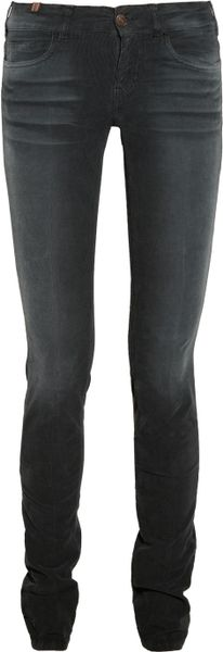 Notify Bamboo Midrise Skinny Corduroy Jeans in Black (bamboo)