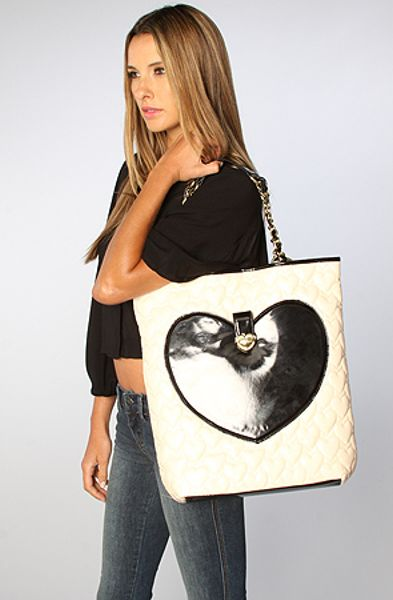 Betsey Johnson The Mine And Yours Tote Bag In Cream In