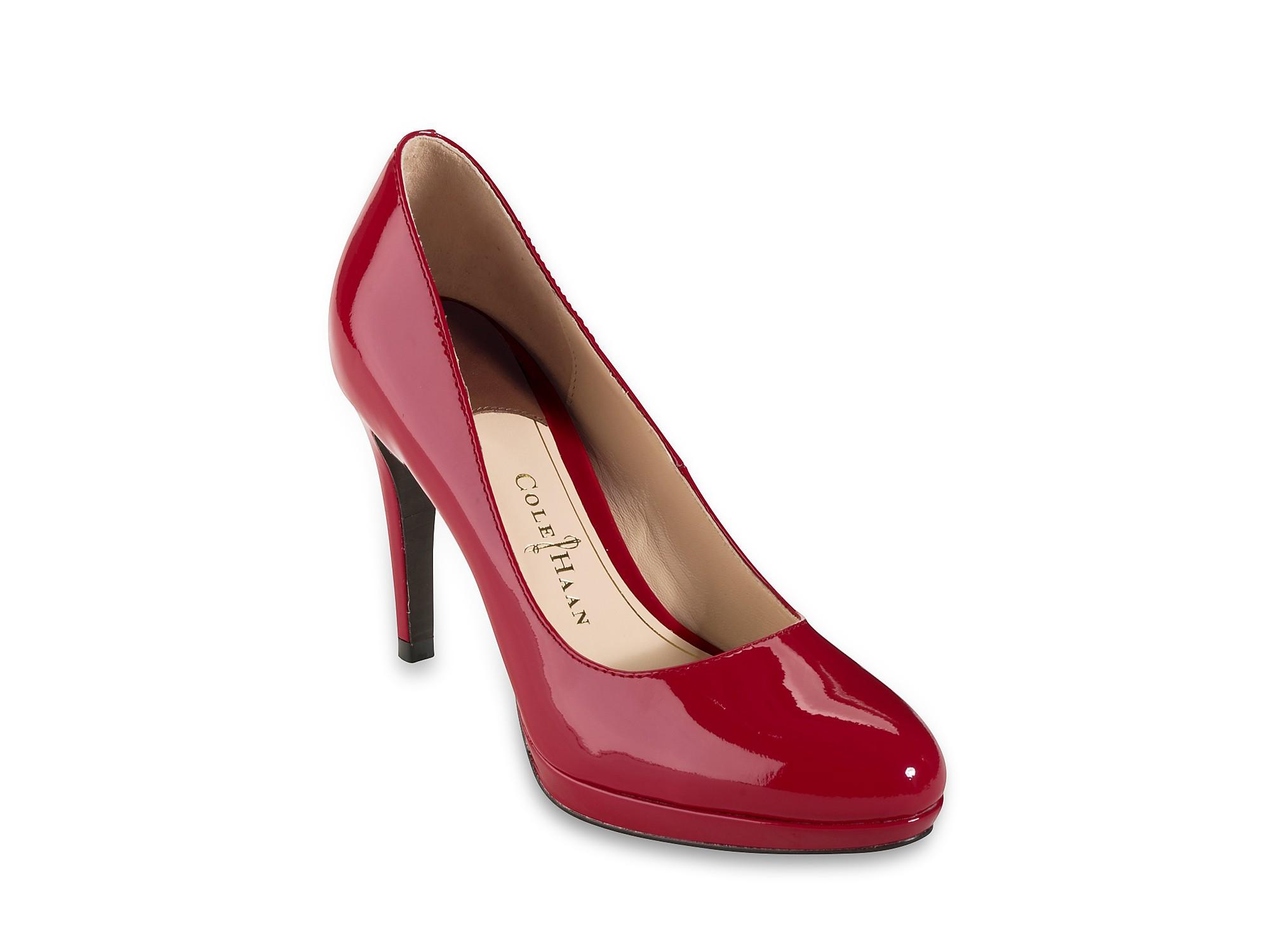 119f75ba1cf Lyst - Cole Haan Platform Pumps Chelsea High Heel in Red