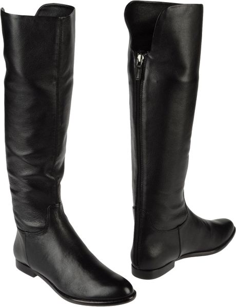 elie tahari boots in black lyst