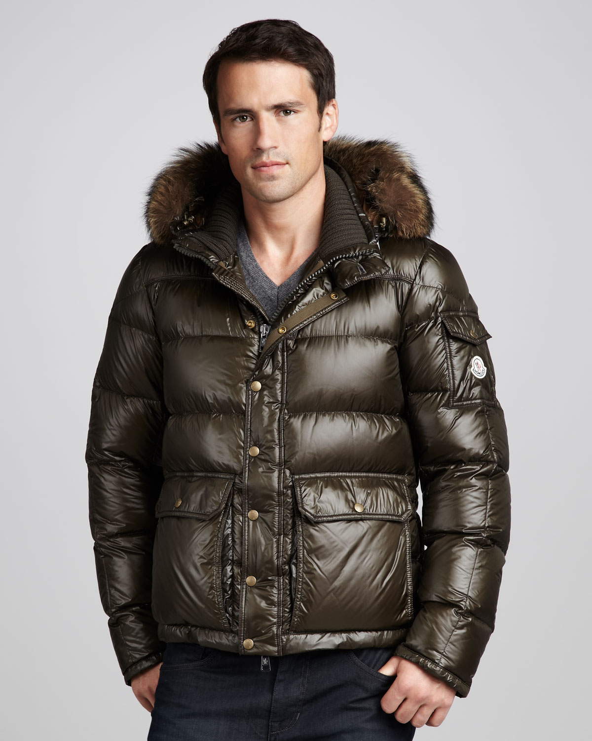 2dd189f221c7 coupon code for moncler mens jacket fur hood 58f54 a5a21