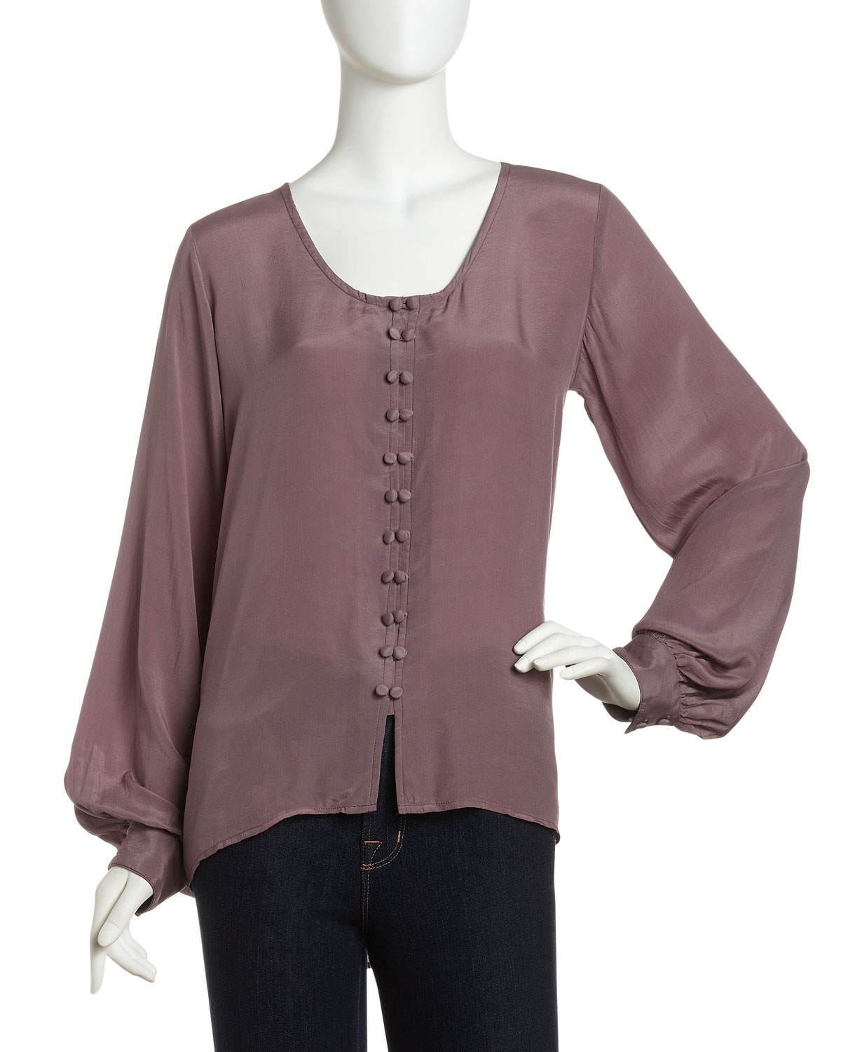 Lyst Winter Kate Double Button Blouse In Purple