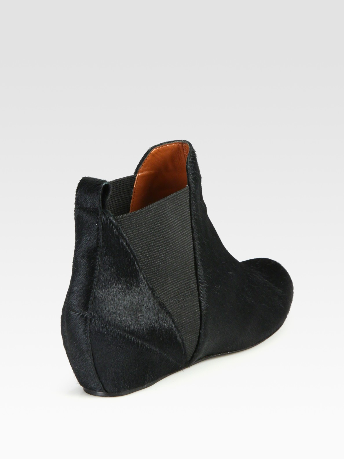 Elizabeth and james Pony Hair Flat Ankle Boots in Black | Lyst