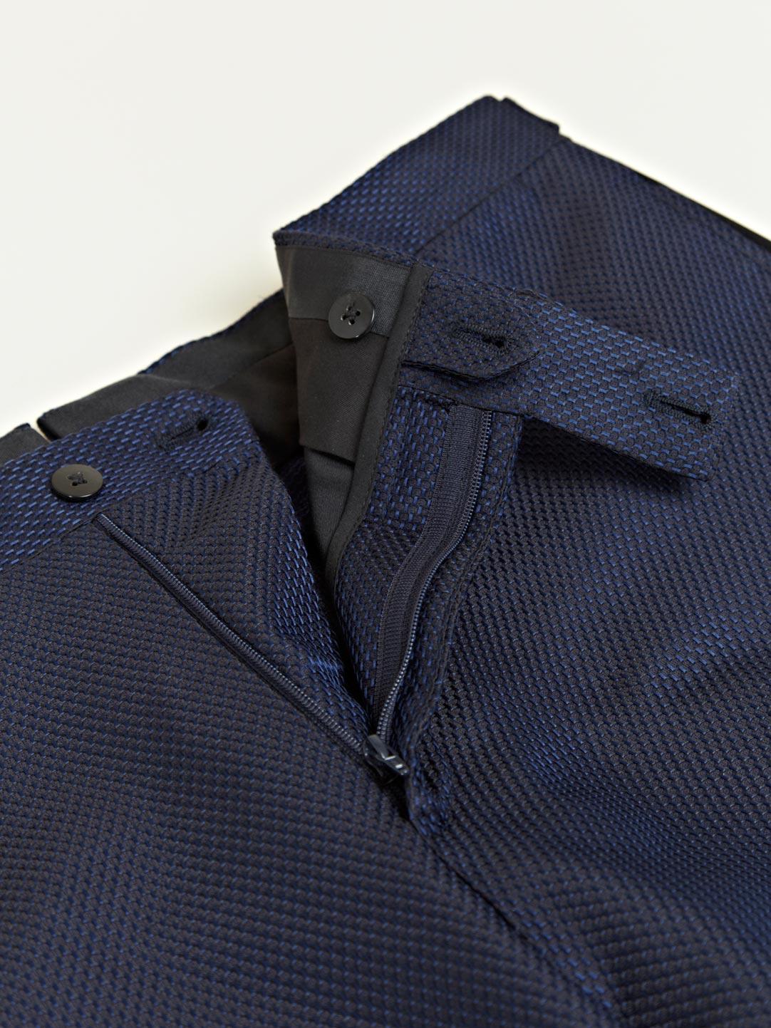 Lanvin Lanvin Mens Satin Strip Trousers in Navy (Blue) for Men