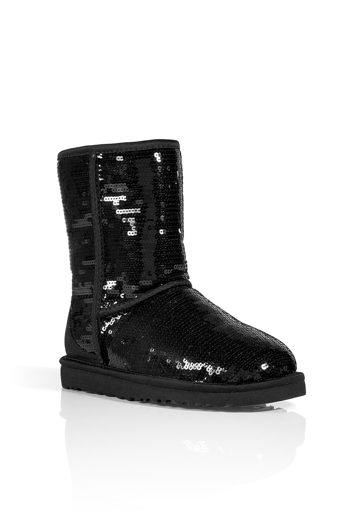 Ugg Black Sequin Classic Short Sparkles Boots In Black Lyst