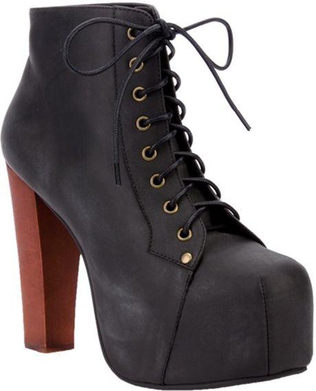 Jeffrey Campbell Lita Platform Ankle Boot in Black | Lyst