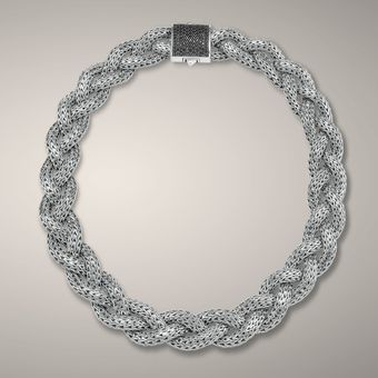 John Hardy Large Braided Necklace - Lyst