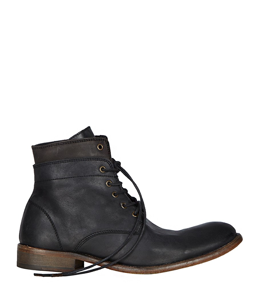 Lyst Allsaints Cropped Layer Boot In Black For Men
