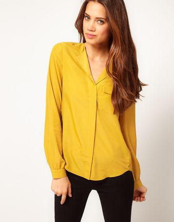 ASOS Collection Blouse with Drop Collar - Lyst