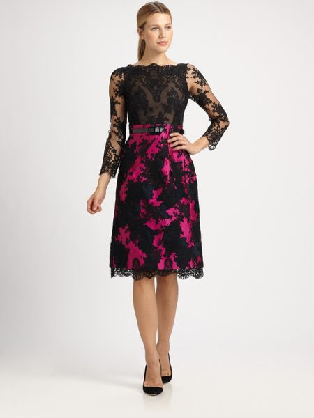 Erdem Ariel Lace Dress in Purple (black)