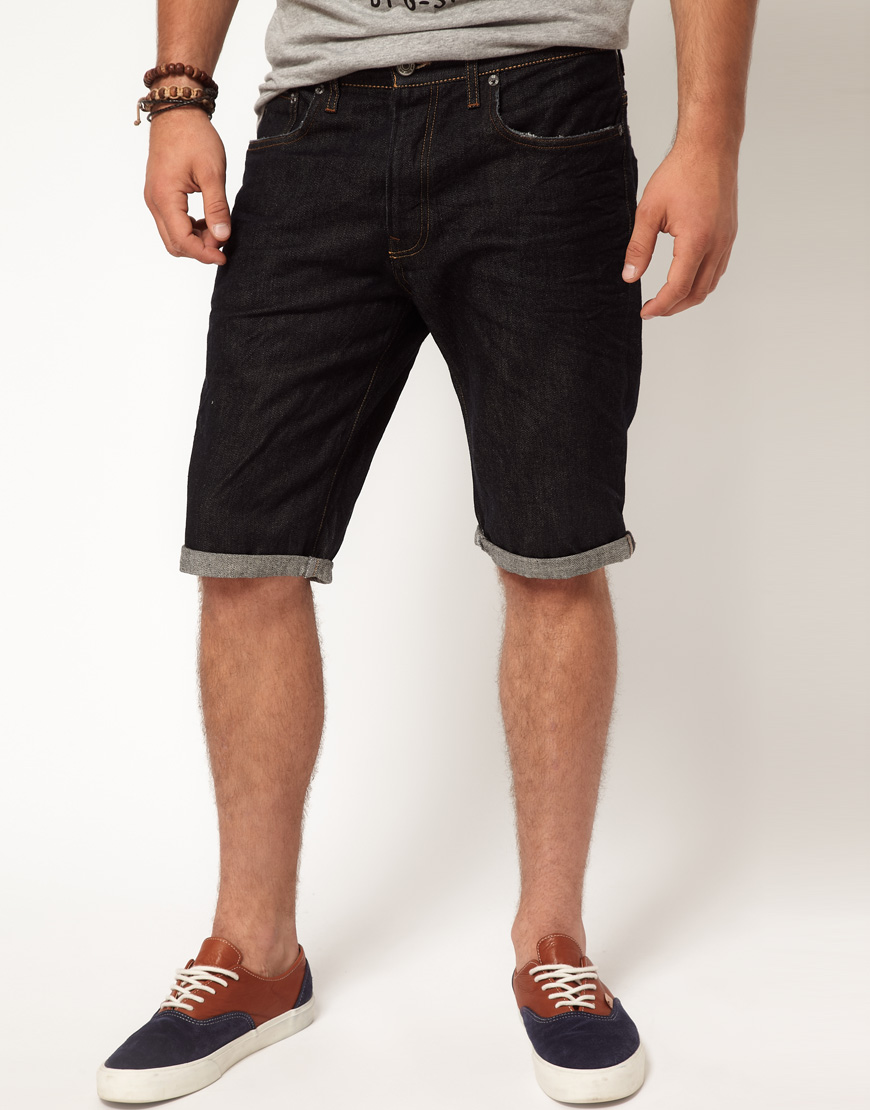 lyst g star raw gstar shorts straight 3d raw denim in. Black Bedroom Furniture Sets. Home Design Ideas