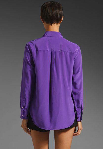 Purple Silk Blouse 13