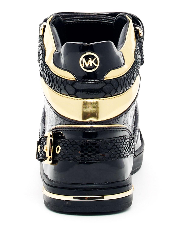 73b38a267e4b6 ... gold high top sneakers Gallery. Womens Michael By Michael Kors Fulton  ...