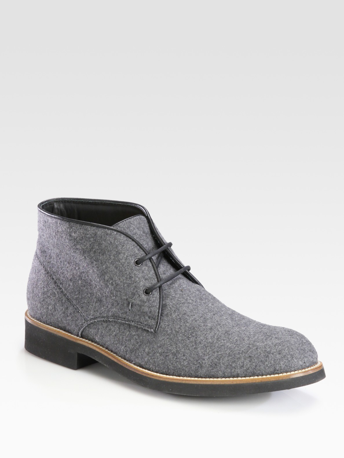 tod s suede chukka boot in gray for grey lyst