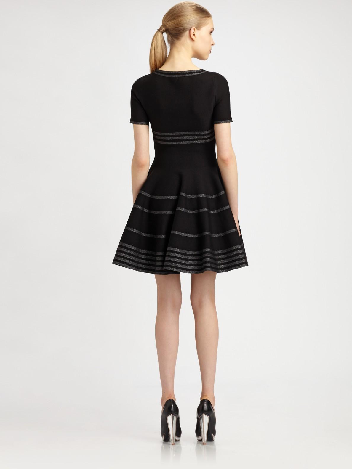 Outlet Store Cheap Price Visit Cheap Price Striped short dress Saint Laurent Supply Cheap Price Cheap Classic UszaN