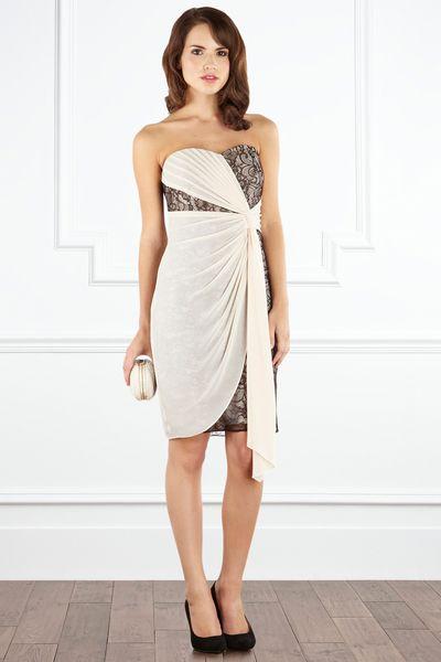 Coast Elisabeth Dress in Gray (monochrome)