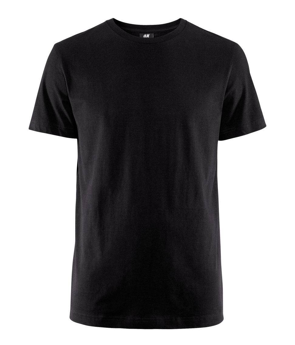h m tshirt in black for men lyst