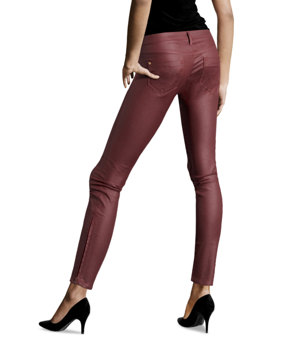 H&m Skinny Low Jeans in Red