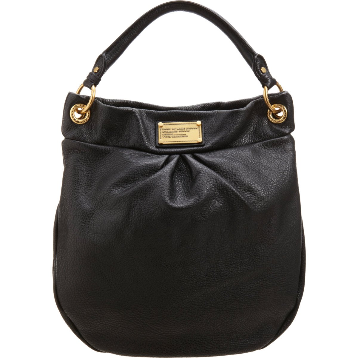 marc by marc jacobs classic q hillier hobo bag in black oyster lyst. Black Bedroom Furniture Sets. Home Design Ideas