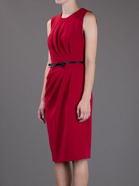 max mara studio sleeveless dress in red lyst. Black Bedroom Furniture Sets. Home Design Ideas