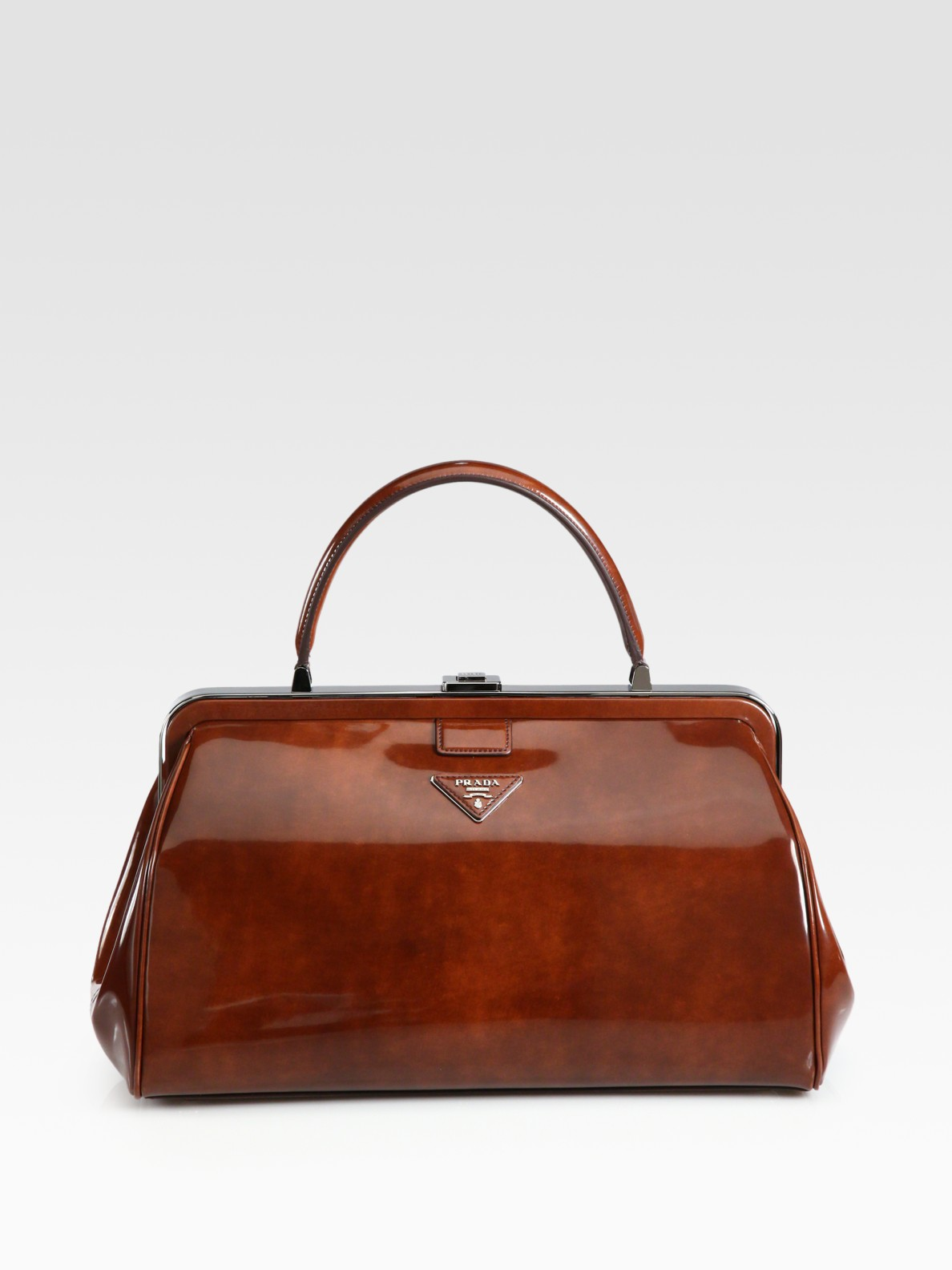 3256368e2a84 ... where can i buy lyst prada spazzolato frame bag in brown d246f 2d830