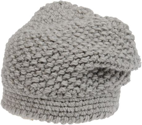 Stefanel Hat in Gray (grey) - Lyst