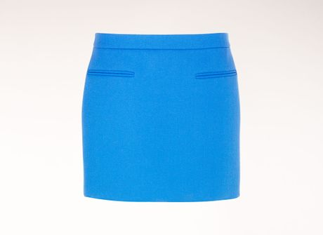 Stella Mccartney Dense Wool Tive Skirt in Blue (ultra blue) - Lyst