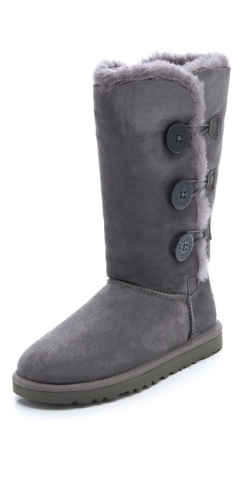 Lyst Ugg Bailey Button Triplet Boots In Gray