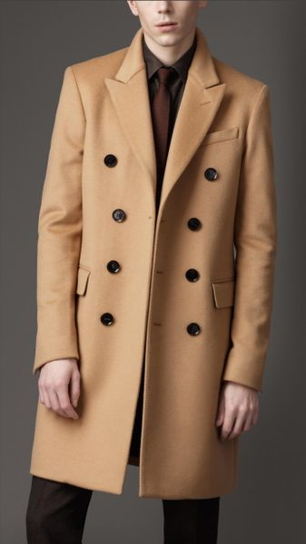 Burberry Felted Wool Topcoat in Beige for Men (camel)