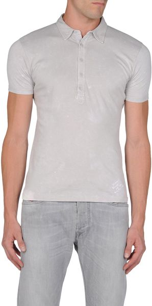 Diesel Polo Shirt in Gray for Men (yellow)