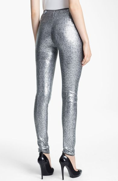 Donna Karan New York Collection Sequin Jersey Leggings In