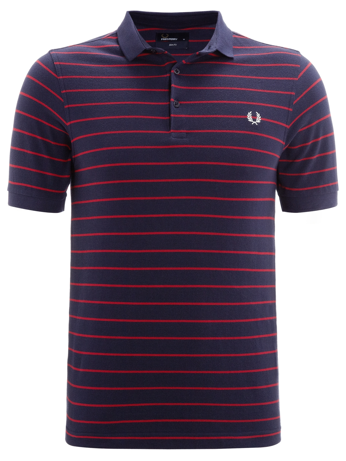 Fred Perry Fine Stripe Polo Shirt Bluered for Men