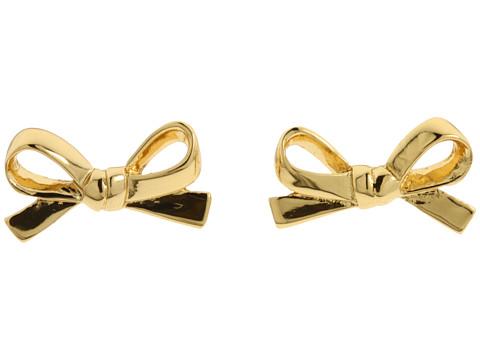 b109696811d2 Lyst - Kate Spade Skinny Mini Bow Studs in Metallic