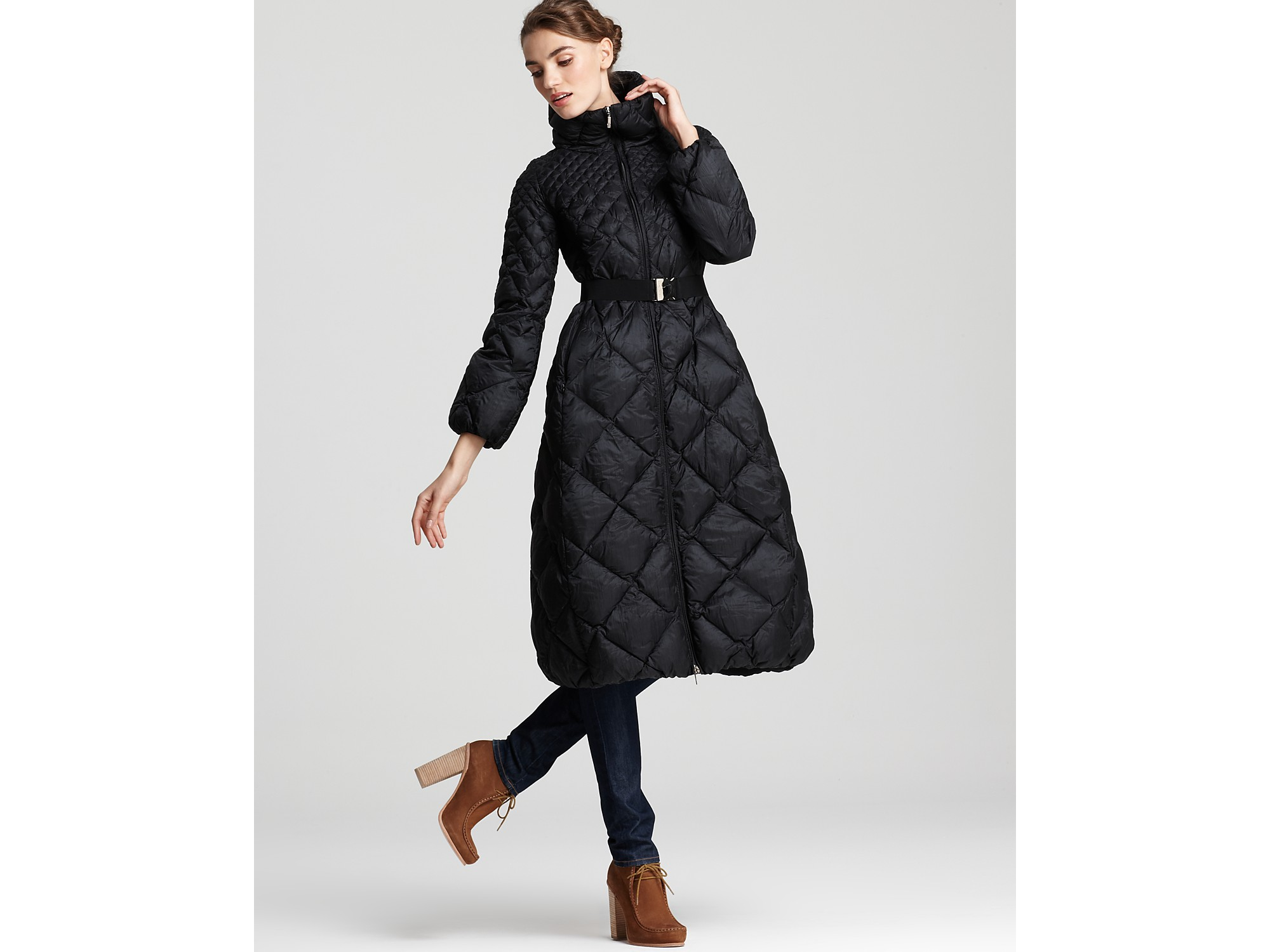 9ad4190a0 Moncler Black Carcajou Long Quilted Down Coat