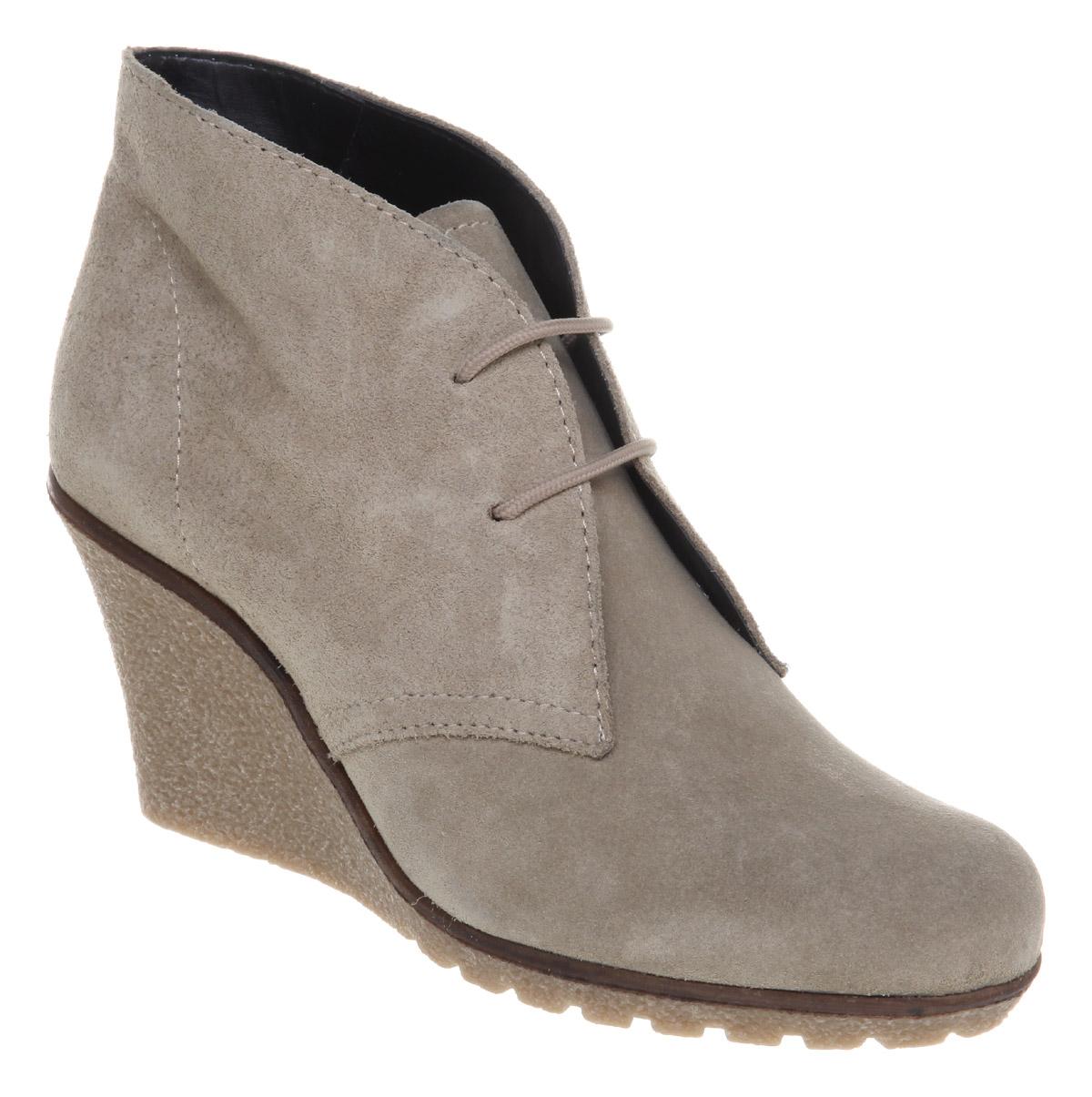 office kactus wedge boot suede in gray desert lyst
