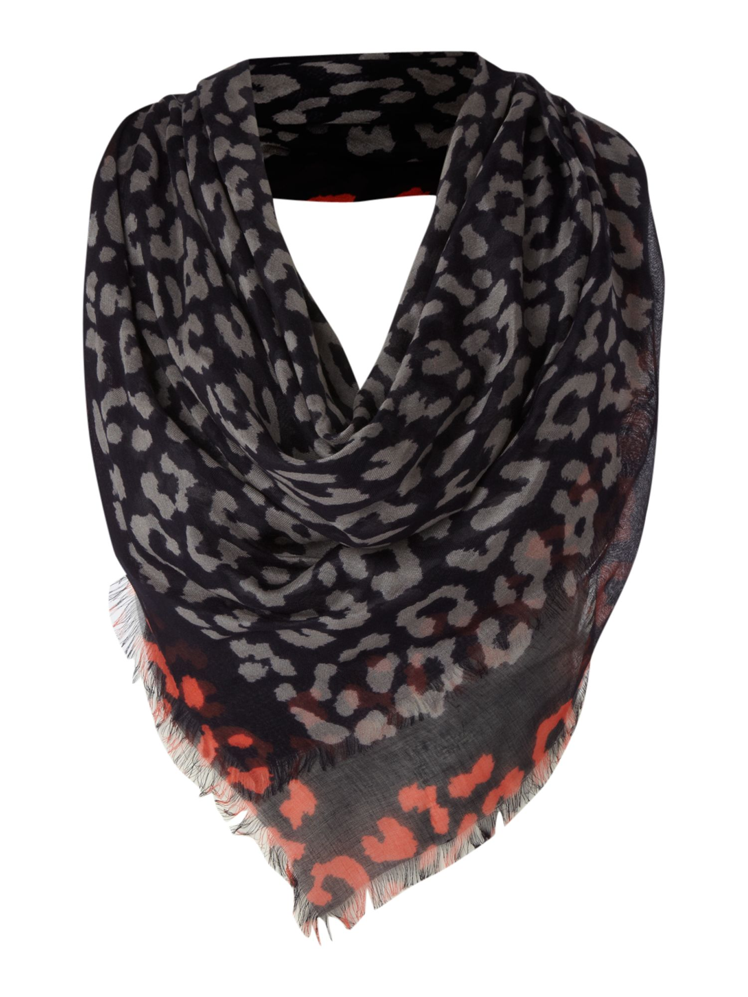 paul smith leopard print square scarf in lyst