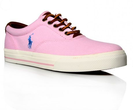 polo ralph vaughn oxford vulc in pink for lyst