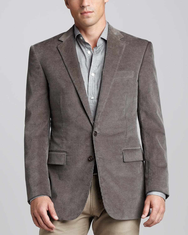 Ralph lauren black label Corduroy Sport Coat in Gray for Men | Lyst