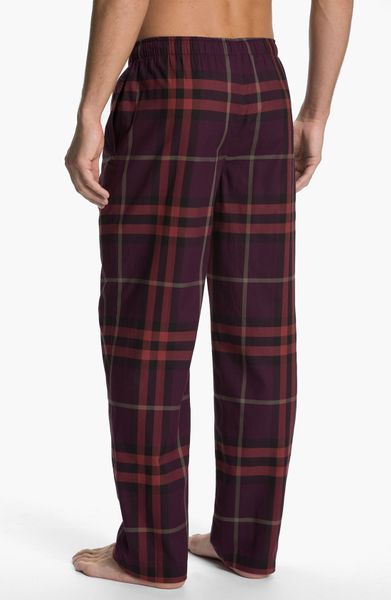 Lyst - Burberry Flannel Pajamas Pants in Brown for Men