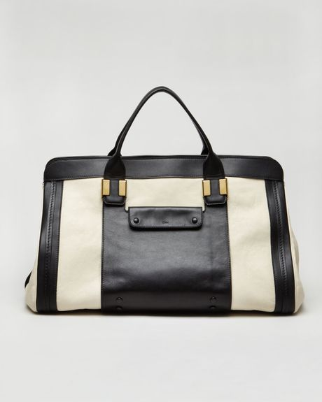 Chloé Alice Springs Satchel  in Black (husky white)