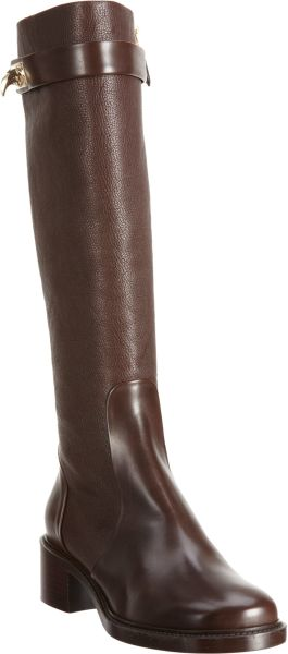 Givenchy Shark Tooth Knee Boot in Brown (gold)