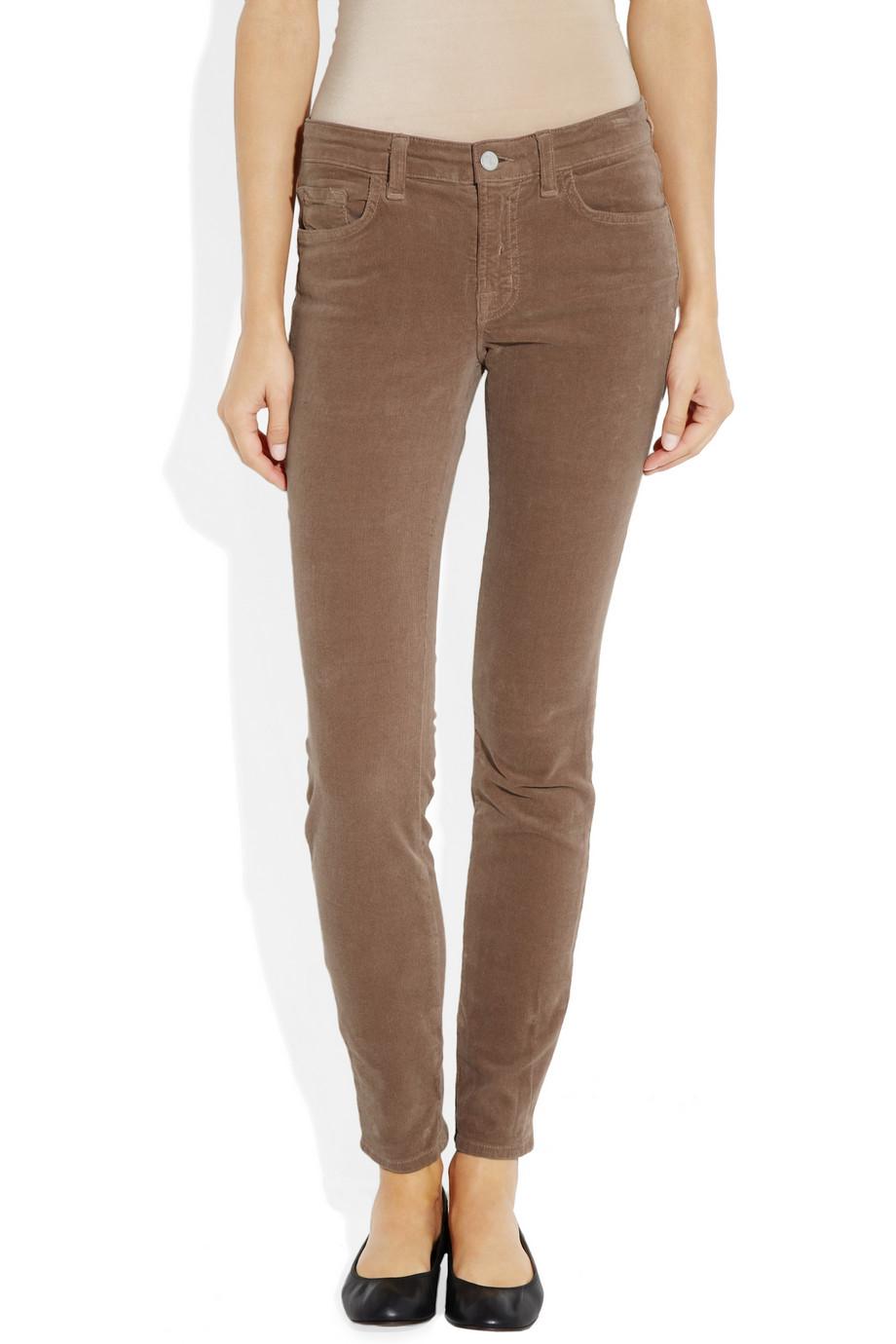 J brand 511 Midrise Corduroy Skinny Jeans in Brown  Lyst