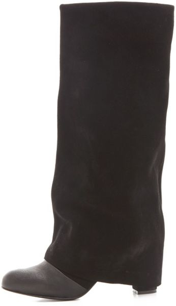See By Chlo 233 High Heel Cuffed Boot In Black Lyst