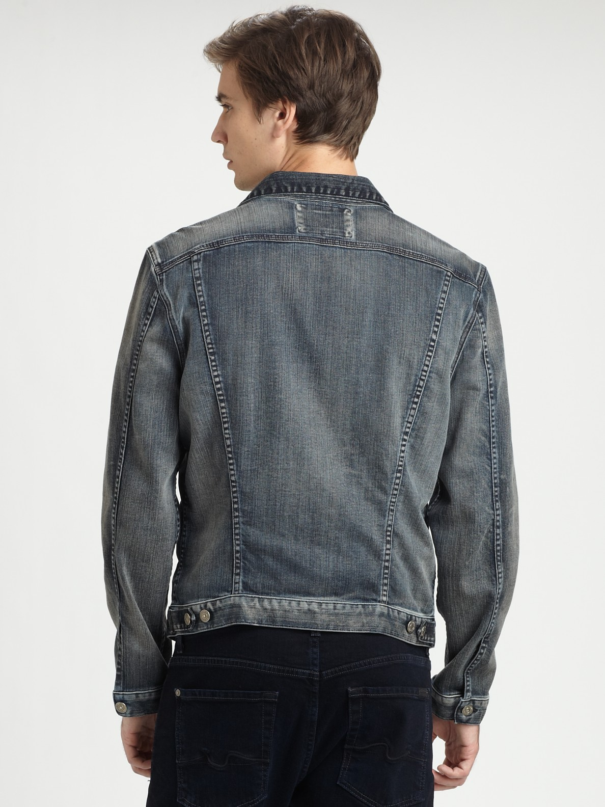 Lyst 7 For All Mankind Jean Jacket In Blue For Men