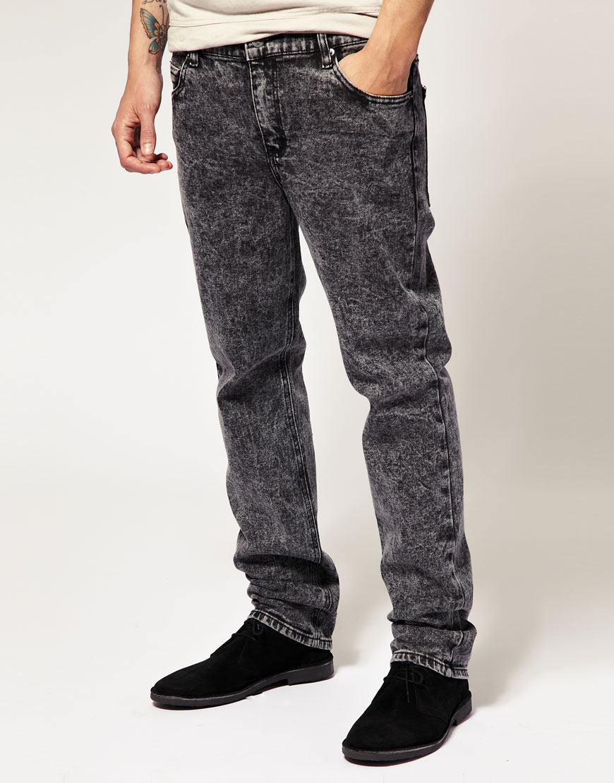 Cheap monday Black Ice Skinny Jeans in Black for Men | Lyst