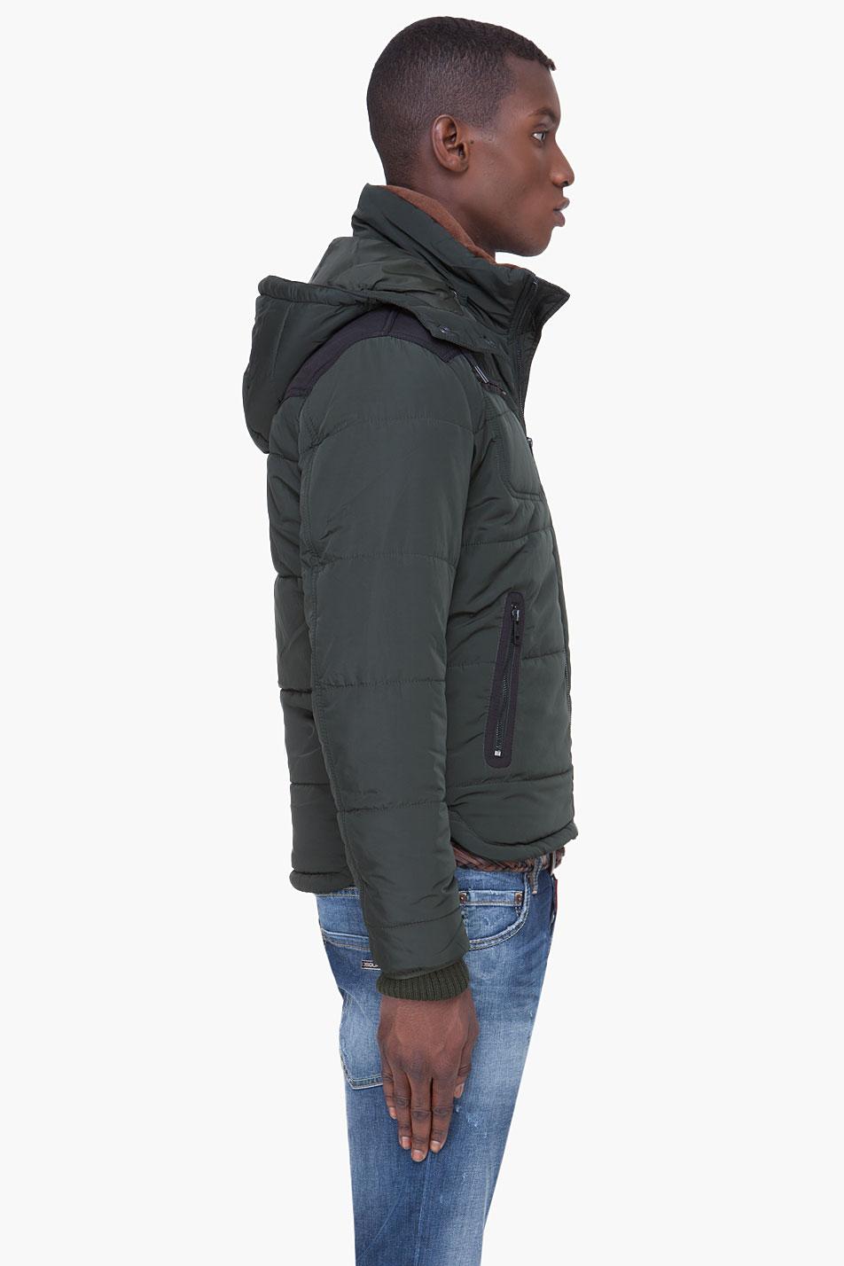 80c886353 Men's Dark Green Hooded Wiley Jacket