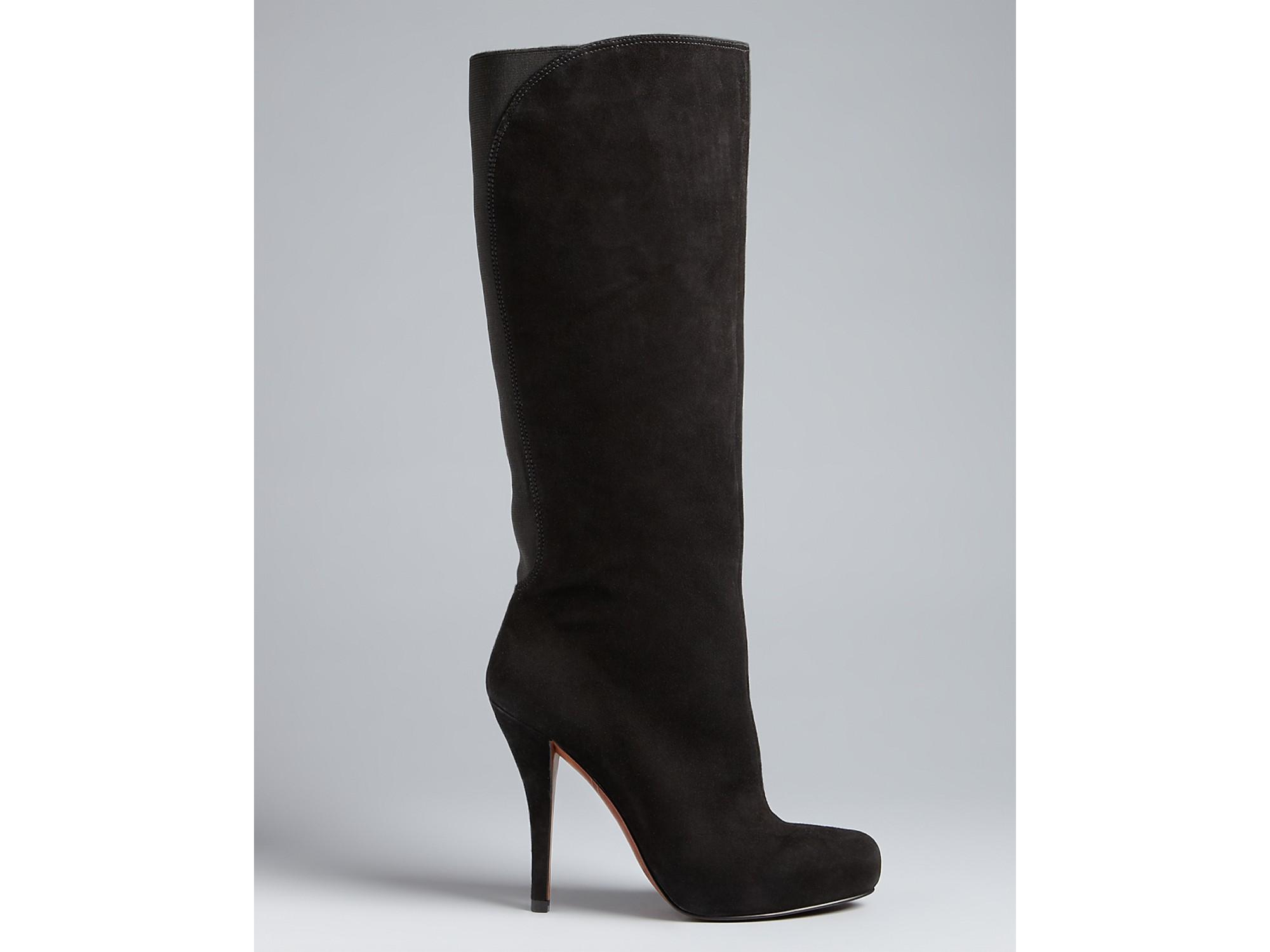 Enzo Angiolini Tall Boots Yabbo High Heel In Black Lyst