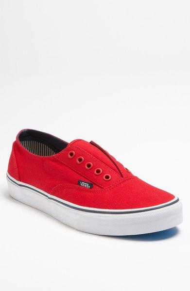 Vans Era Laceless Ca Sneaker in Red for Men | Lyst